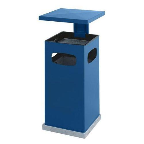 Vepa bins Pojemnik na odpady do ustawienia na zewnątrz, z wkładaną popielniczką i daszkiem