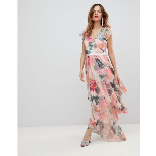 graphic floral print maxi dress - multi marki Y.a.s