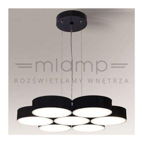 LAMPA wisząca ZAMA 5515/LED/CZ Shilo metalowa OPRAWA okrągła LED 105W 3000-4000K zwis czarny (1000000344554)