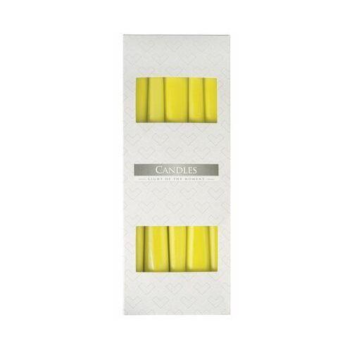 , s30, świeca stożek, żółta, 10 sztuk marki Bispol