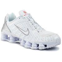 Buty - shox tl av3595 100 white/white/metallic silver, Nike, 40-46