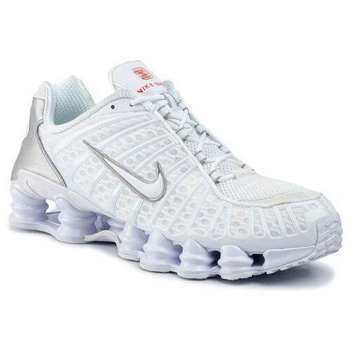 Buty - shox tl av3595 100 white/white/metallic silver marki Nike