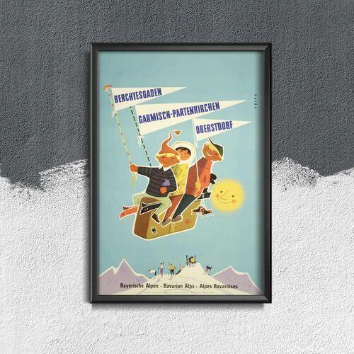 Plakat do pokoju plakat do pokoju alpy bawarskie austria niemcy marki Vintageposteria.pl