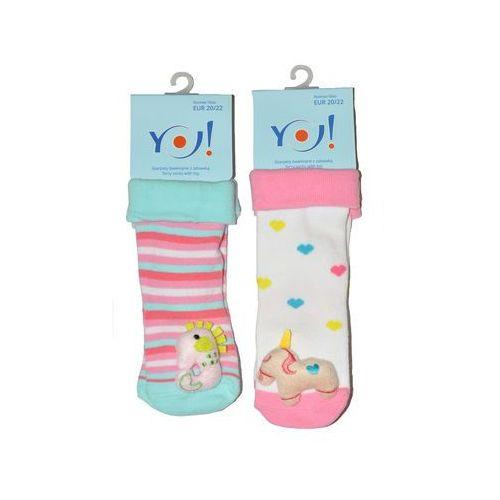 Skarpety YO! SKC Toys Girl Grzechotka 20-22, wielokolorowy-dziewczynka, YO!, kolor wielokolorowy