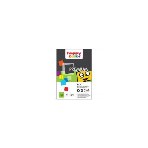 Blok techniczny kolor A3 HAPPY COLOR 220g, 5905130107061