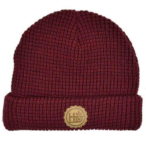 czapka zimowa HABITAT - Strange Brew Brgndy Htr (CERVENA)