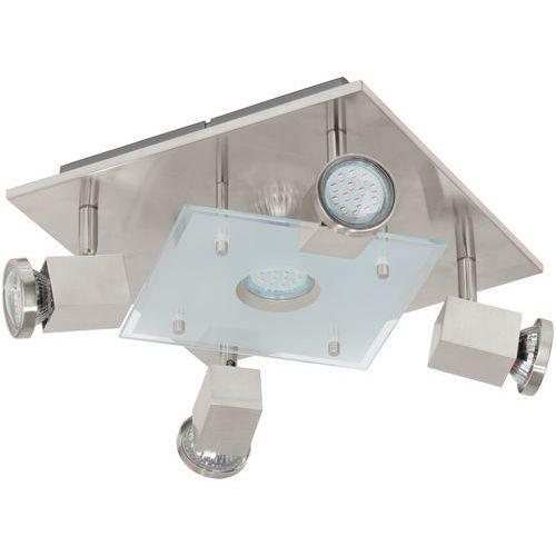 Plafon Eglo Pawedo 93084 lampa oprawa sufitowa 5x3W GU10-LED nikiel mat / biały