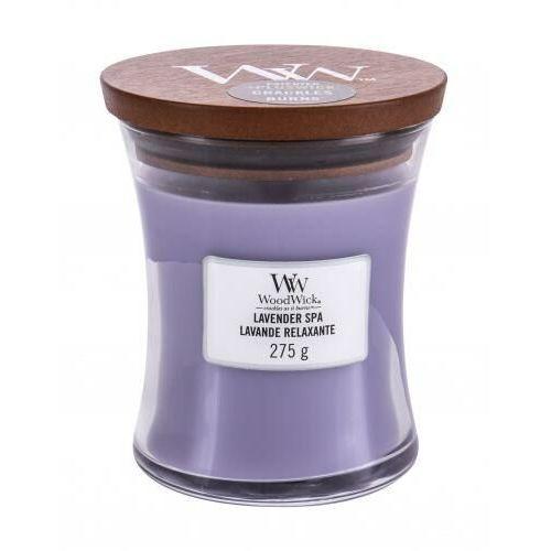 Woodwick Świeca średnia lavender spa - 92492e