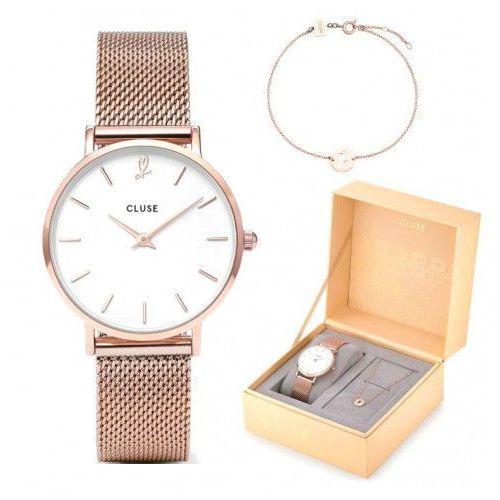 Zegarek Cluse Minuit Heart CLG013 + Bransoletka Komplet Gift Box