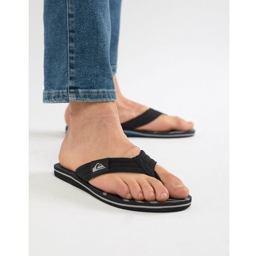 molokai flip flop in black/blue/grey - black, Quiksilver