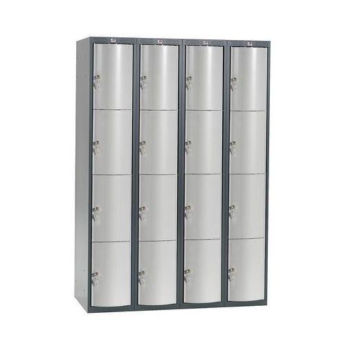 Ekskluzywne szafy osobiste 4x4 schowkim Kolor drzwi: Jasny szary metalizow, 1311853