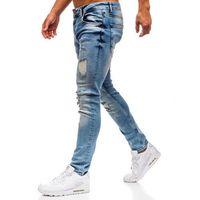 Spodnie jeansowe męskie niebieskie denley 1842 marki Breezy