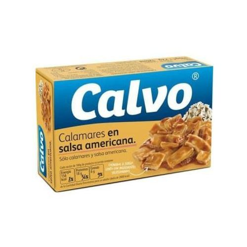 Kalmary w sosie amerykańskim marki Calvo