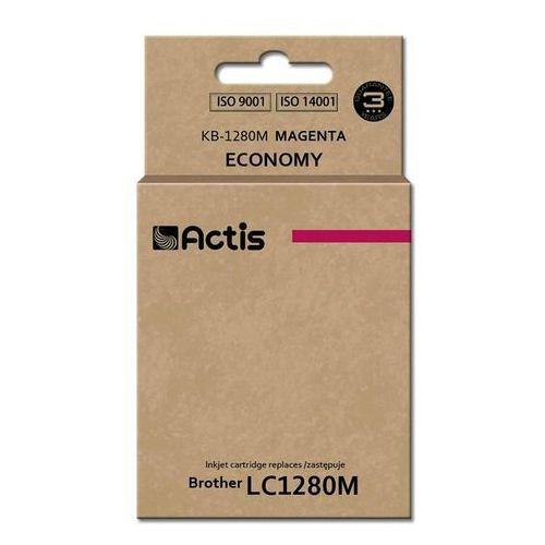 Tusz kb-1280m (do drukarki brother, zamiennik lc1280m standard 19ml magenta) marki Actis