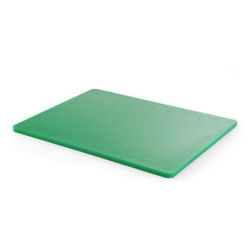 Deska z polietylenu zielona haccp z podziałką marki Hendi