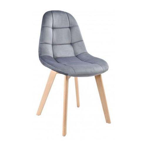 Krzesło westa velvet aksamit grafitowe marki Krzeslaihokery