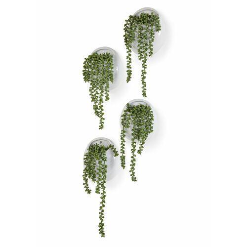 Roślina sztuczna w doniczce na ścianę bonprix zielono-biały