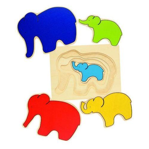 Goki Puzzle warstwowe, słoniki - od 24,99zł darmowa dostawa kiosk ruchu