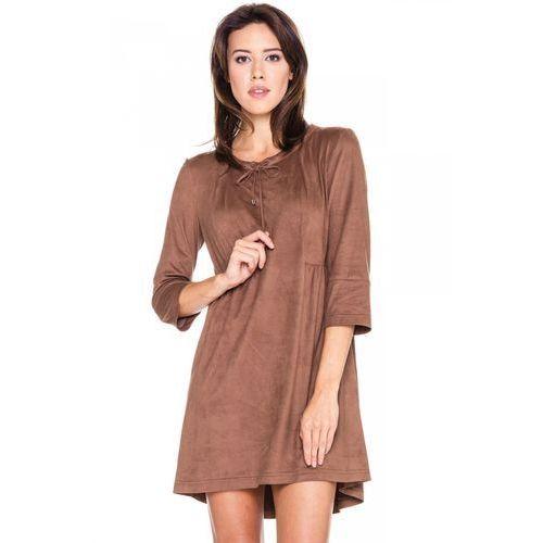Lekka sukienka o zamszowej fakturze - Metafora