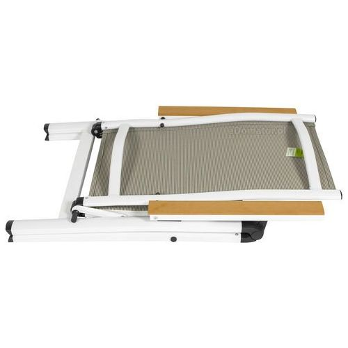Meble ogrodowe aluminiowe VERONA LEGNO Stół i 6 krzeseł - białe - deski polywood