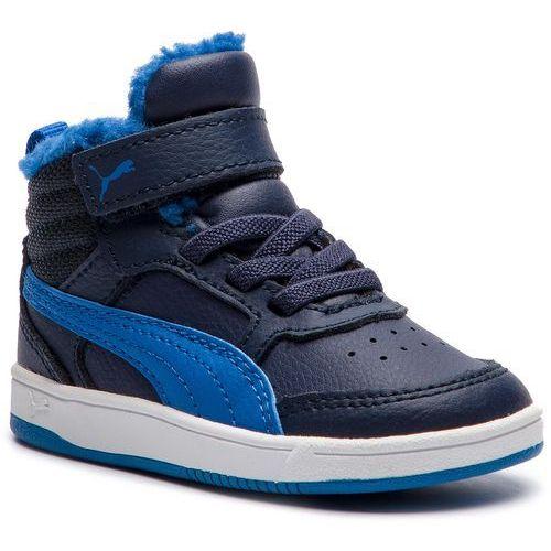 Puma Sneakersy - rebound street v2 fur v inf 363921 05 peacoat/strng blue/whte