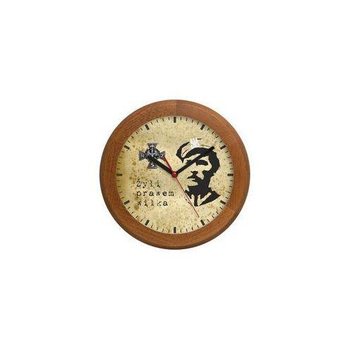 Atrix Zegar drewniany rondo żołnierze niezłomni