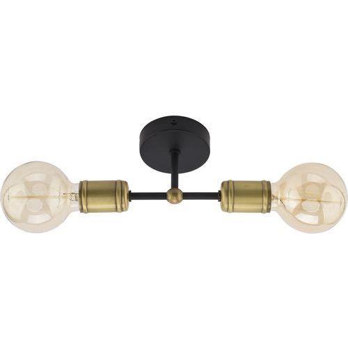 Lampa oprawa sufitowa plafon edison tk lighting retro 2x60w e27 czarna/złota 1902 marki Tklighting