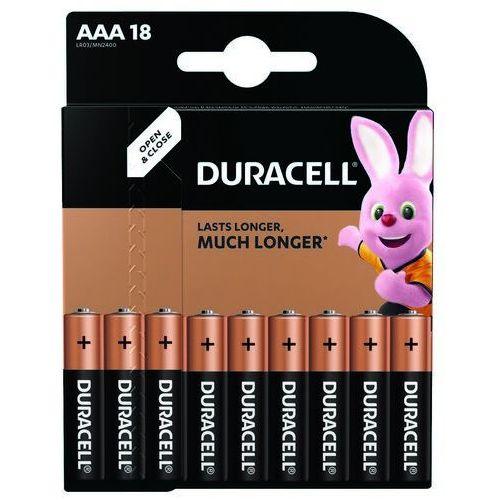 Baterie AAA LR03 DURACELL (18 szt.)