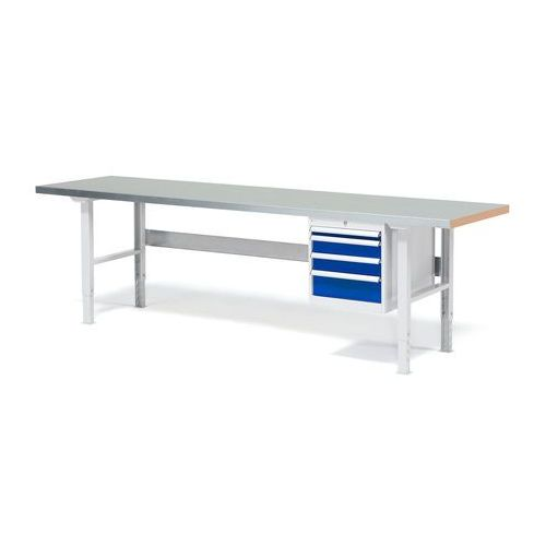 Aj produkty Stół warsztatowy z blatem o powierzchni stalowej 800x750x2500mm