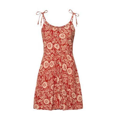 NEW LOOK Sukienka kremowy / czerwony, kolor czerwony