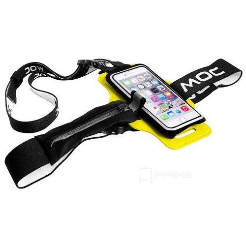 chest plate akcesoria / szelki z rzepem do etui na smartfona / żółte - yellow marki Moc