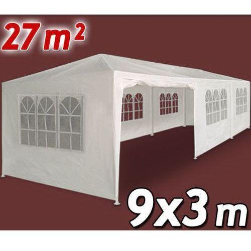 Wideshop Biały pawilon ogrodowy handlowy 3x9 namiot altanka - biały