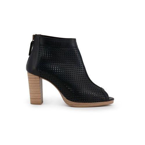 Buty za kostkę botki damskie ARNALDO TOSCANI - 7104K117-46, kolor czarny