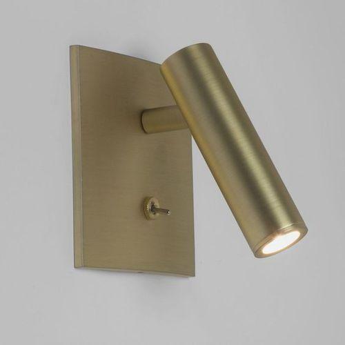 kinkiet do czytania ENNA SQUARE SWITCHED LED matowe złoto, ASTRO LIGHTING 7550