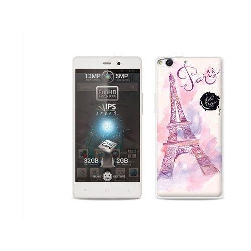 Fantastic Case - Allview X1 Soul - etui na telefon Fantastic Case - różowa wieża eiffla (Futerał telefoniczny)
