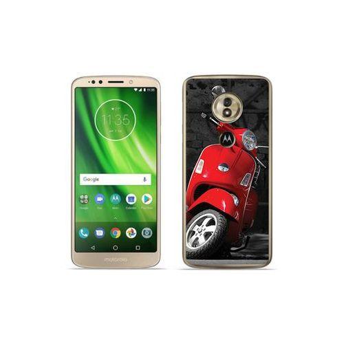 etuo Foto Case - Motorola Moto G6 Play - etui na telefon Foto Case - czerwony skuter