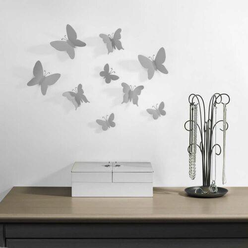 - dekoracja ścienna mariposa, 9 szt., szara marki Umbra