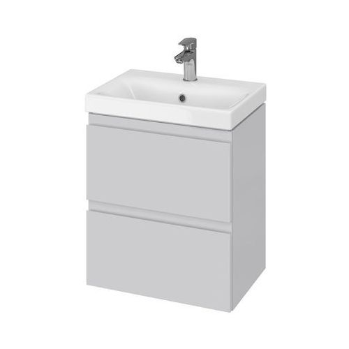 Cersanit moduo set slim zestaw: umywalka 50 cm + szafka, kolor szary s801-228