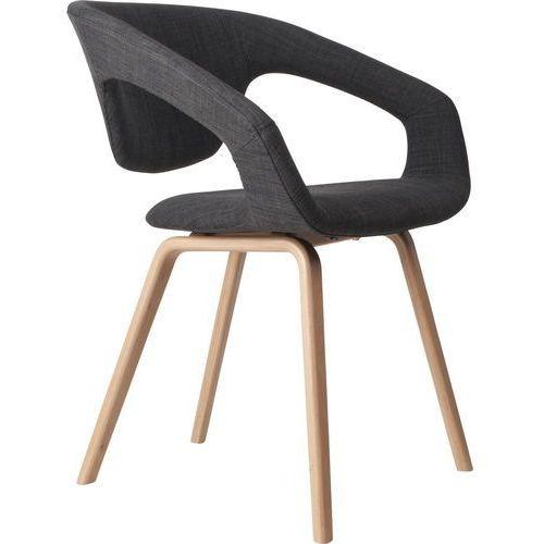 :: krzesło flex back - natural/dark grey - ciemnoszary, brązowy marki Zuiver