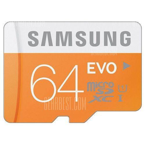 Original samsung 64gb evo class 10 micro sdxc memory card wyprodukowany przez Gearbest