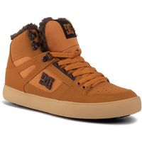 Sneakersy - pure high-top wc wnt dys400047 brown/chocolate(bct) marki Dc