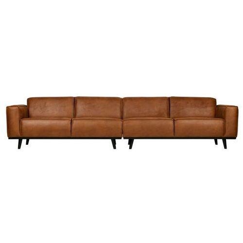 Be Pure Sofa Statement XL 4-osobowa 372 cm ekoskóra koniakowa 378656-09 (8714713088539)