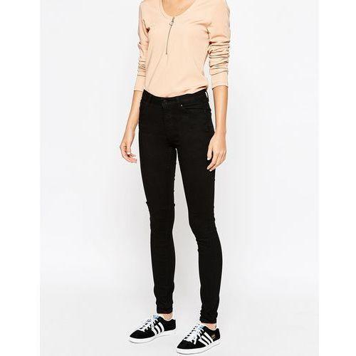 Weekday body high waist super stretch skinny jeans - black