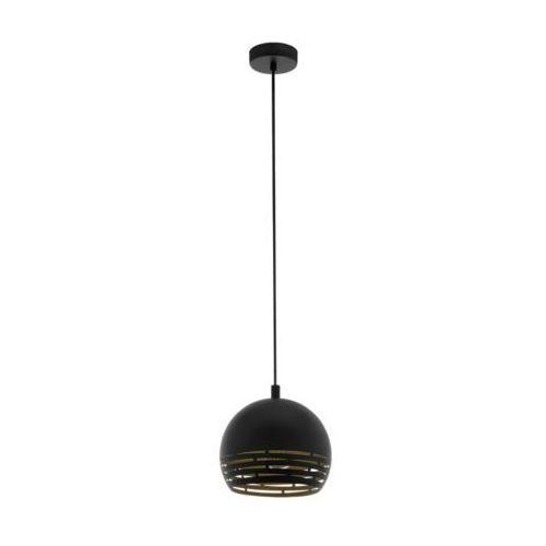 Eglo Camastra 98071 lampa wisząca zwis oprawa 1x40W E27 czarna/złota, kolor Czarny