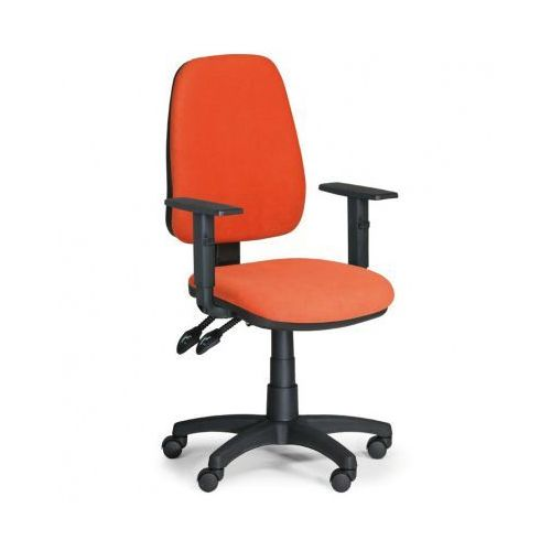 Krzesło biurowe ALEX z podłokietnikami - pomaranczowe