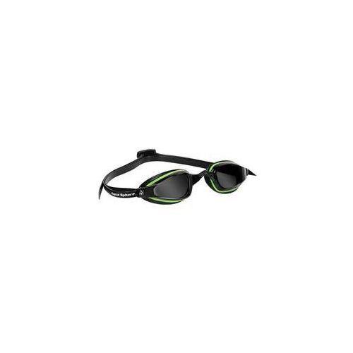 Męskie okulary pływackie k180+ dark czarne/zielone marki Michael phelps aqua sphere