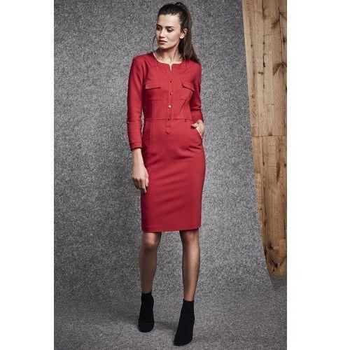Czerwona sukienka - Ennywear, kolor czerwony