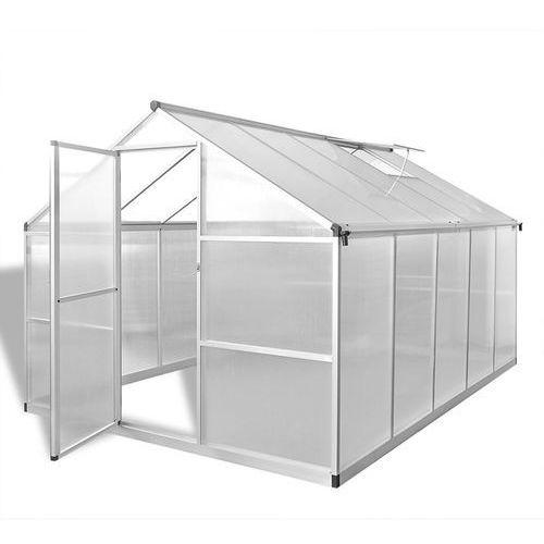 Vidaxl szklarnia z aluminiową, wzmacnianą ramą i podstawą 7,55 m2