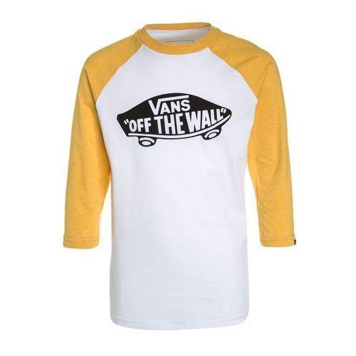 Vans OFF THE WALL RAGLAN Bluzka z długim rękawem white/gold heather (0191165024434)