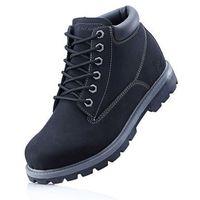 Kozaki sznurowane Sneakers bonprix czarny, kolor czarny